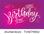 vector illustration.happy... | Shutterstock .eps vector #714674062