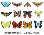 tattoo or boho t shirt or... | Shutterstock .eps vector #714674926