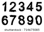 set of grunge numbers.vector... | Shutterstock .eps vector #714675085