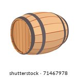 Wooden Barrel On A White...