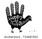 happy thanksgiving. the concept ... | Shutterstock .eps vector #714681502