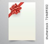 blank paper sheet with red... | Shutterstock .eps vector #714689302