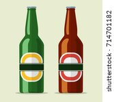 lager bottle beer icon isolated ... | Shutterstock .eps vector #714701182