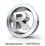 3d metal registered trademark | Shutterstock . vector #71470513