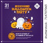 halloween invitation template.... | Shutterstock .eps vector #714707065