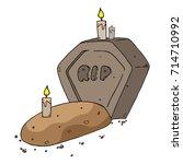 gravestone with the inscription ... | Shutterstock .eps vector #714710992