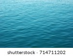 Blue Sea Surface With Waves ....