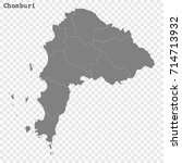 high quality map of chonburi is ... | Shutterstock .eps vector #714713932