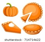 pies vector illustration... | Shutterstock .eps vector #714714622