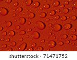 Colored Water Drops - stock photo