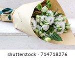 Wrapped White Eustoma Flowers...
