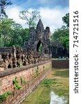 angkor thom  a unesco site ... | Shutterstock . vector #714721516
