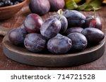 Fresh Ripe Whole Purple Damson...