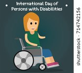 international day of persons... | Shutterstock .eps vector #714742156