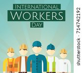 international workers day  1... | Shutterstock .eps vector #714742192