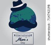 international men's day  19... | Shutterstock .eps vector #714742198