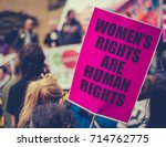 detail of a women's rights... | Shutterstock . vector #714762775