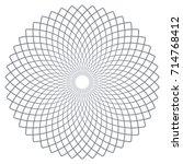 circle design element. rotation ... | Shutterstock .eps vector #714768412
