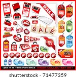 yes it's time to sale  sale... | Shutterstock .eps vector #71477359
