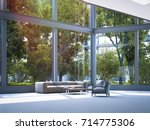 modern office waiting area with ... | Shutterstock . vector #714775306