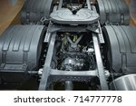 view on truck chassis frame... | Shutterstock . vector #714777778