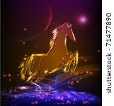 neon horse | Shutterstock .eps vector #71477890