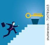 vector illustration. business... | Shutterstock .eps vector #714781615