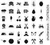 farming icons set. simple style ... | Shutterstock . vector #714782656