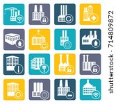industry icon set vector | Shutterstock .eps vector #714809872
