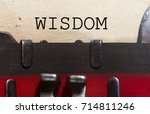 wisdom wise intellect concept ... | Shutterstock . vector #714811246