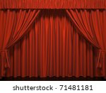 Theater Curtain.  Presentation...