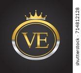 initial letter ve logotype...   Shutterstock .eps vector #714812128
