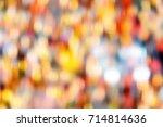 motions blur bokeh light... | Shutterstock . vector #714814636