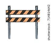 warning barrier icon | Shutterstock .eps vector #714814642