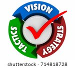 vision strategy tactics... | Shutterstock . vector #714818728