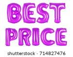 purple alphabet balloons  best... | Shutterstock . vector #714827476
