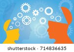 vector illustration. knowledge... | Shutterstock .eps vector #714836635