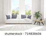idea of white minimalist room... | Shutterstock . vector #714838606