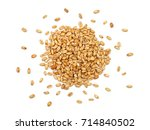 malted wheat grain on a white... | Shutterstock . vector #714840502
