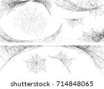 collection of cobweb  isolated... | Shutterstock .eps vector #714848065