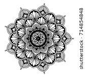 mandalas for coloring book.... | Shutterstock .eps vector #714854848