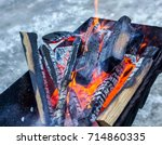 background of fire and black... | Shutterstock . vector #714860335