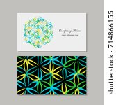 business cards design  flower... | Shutterstock .eps vector #714866155