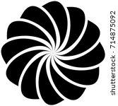 circular geometric motif.... | Shutterstock .eps vector #714875092