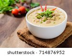 thai food  phanaeng curry  red... | Shutterstock . vector #714876952