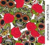 seamless pattern  background...   Shutterstock .eps vector #714877618