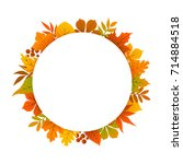 autumn  fall  thanksgiving... | Shutterstock .eps vector #714884518