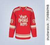 vector illustration of hockey... | Shutterstock .eps vector #714886948