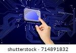 hand chooses cloud technology...   Shutterstock . vector #714891832
