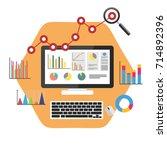 data driven marketing. business ... | Shutterstock .eps vector #714892396